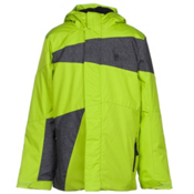 Spyder Snap Boys Ski Jacket, Theory Green-Polar Wool Print-, medium