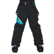 Spyder Avenger Kids Ski Pants, Black-Electric Blue-Theory Gre, medium