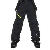 Spyder Avenger Kids Ski Pants, Black-Bryte Yellow, medium