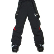 Spyder Force Kids Ski Pants, Black-Volcano, medium