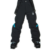Spyder Force Kids Ski Pants, Black-Electric Blue, medium