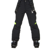 Spyder Force Kids Ski Pants, Black-Theory Green, medium