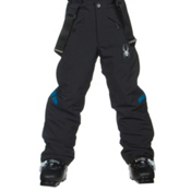 Spyder Force Kids Ski Pants, Black-Concept Blue, medium
