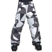 Spyder Action Kids Ski Pants, Black Faceted Print, medium