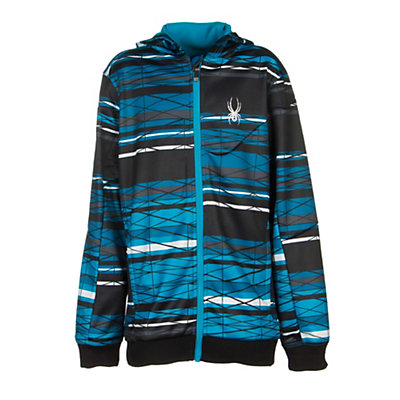 Spyder Invert Kids Soft Shell Jacket (Previous Season), Electric Blue Scaffolding-Black, viewer