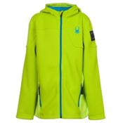 Spyder Core Upward Full Zip Kids Sweater, Theory Green-Electric Blue, medium