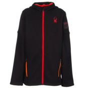 Spyder Core Upward Full Zip Kids Sweater, Black-Bryte Orange-Volcano, medium