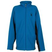 Spyder Core Constant Full Zip Kids Sweater, Concept Blue-Black, medium