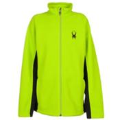 Spyder Core Constant Full Zip Kids Sweater, Theory Green-Black, medium