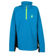 Spyder Core Outbound Half-Zip Kids Sweater, Electric Blue-Bryte Yellow, medium
