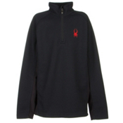Spyder Core Outbound Half-Zip Kids Sweater, Black-Volcano, medium