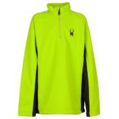 Spyder Core Outbound Half-Zip Kids Sweater, Theory Green-Black, medium