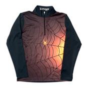Spyder Bugcentric Dry WEB Kids Midlayer, Black-Bryte Orange, medium