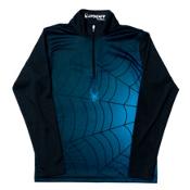Spyder Bugcentric Dry WEB Kids Midlayer, Black-Electric Blue, medium
