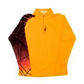 Spyder Linear Web DRY Kids Midlayer, Bryte Orange-Black, medium