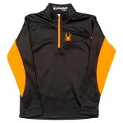 Spyder Charger Therma Stretch Kids Midlayer, Black-Bryte Orange, medium