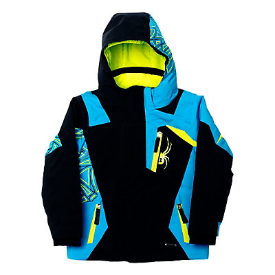 Spyder Mini Challenger Toddler Ski Jacket (Previous Season), Volcano-Black-White, viewer