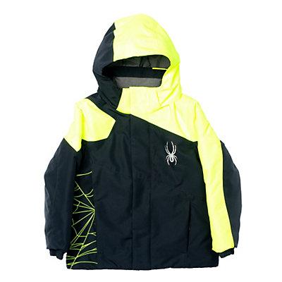 Spyder Mini Guard Toddler Ski Jacket (Previous Season), Black-Bryte Yellow, viewer