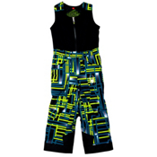 Spyder Mini Expedition Toddler Boys Ski Pants (Previous Season), Theory Green Routed Print-Theory Green Routed Print, medium