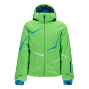 Spyder Tresh Girls Ski Jacket, Green Flash-Riviera-White, medium