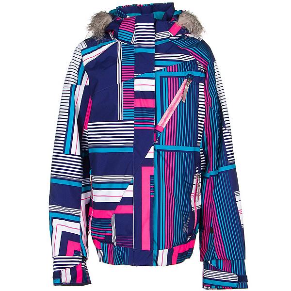 Spyder Lola Girls Ski Jacket (Previous Season), Evening Vybe Print-Bryte Bubblegum, 600