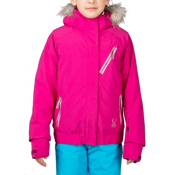 Spyder Lola Girls Ski Jacket, Wild-Wild-Wild Diamond Print, medium