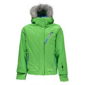 Spyder Lola Girls Ski Jacket, Green Flash-Riviera-Riveria Di, medium