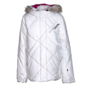 Spyder Hottie Girls Ski Jacket, White-Multi, medium