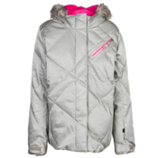 Spyder Hottie Girls Ski Jacket, Silver-Bryte Bubblegum, medium