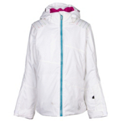 Spyder Glam Girls Ski Jacket, White-Multi-Wild, medium