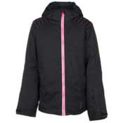 Spyder Glam Girls Ski Jacket, Black-Bryte Bubblegum-Black Vy, medium