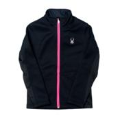 Spyder Core Endure Full Zip Girls Sweater, Black-Bryte Bubblegum, medium