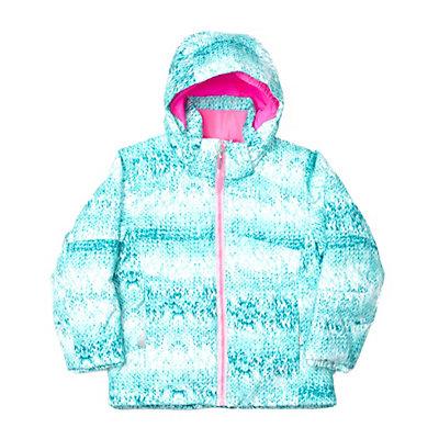 Spyder Bitsy Glam Toddler Girls Ski Jacket (Previous Season), White Confetti Print-Wild, viewer