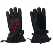 Spyder Overweb Kids Gloves, Black-Volcano, medium