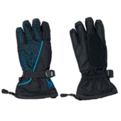 Spyder Overweb Kids Gloves, Black-Electric Blue, medium