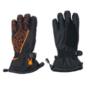 Spyder Overweb Kids Gloves, Black-Bryte Orange, medium