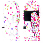Spyder Bitsy Cubby Toddlers Mittens, White Confetti Print, medium