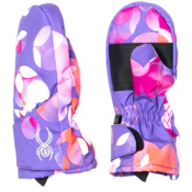 Spyder Bitsy Cubby Toddlers Mittens, Iris Focus Print, medium