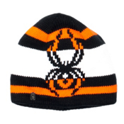 Spyder Mission Kids Hat, Black-Bryte Orange-White, medium