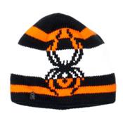 Spyder Mission Kids Hat (Previous Season), Black-Bryte Orange-White, medium