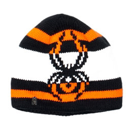 Spyder Mission Kids Hat (Previous Season), Black-Bryte Orange-White, 256