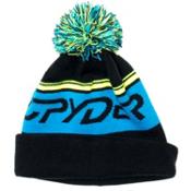 Spyder Icebox Kids Hat, Black-Electric Blue-Bryte Yellow, medium