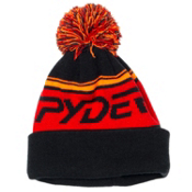 Spyder Icebox Kids Hat, Black-Volcano-Bryte Orange, medium