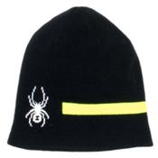 Spyder Duo Reversible Kids Hat, Black-Bryte Yellow-White, medium