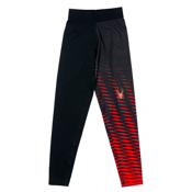 Spyder Sprinter T-HOT Kids Long Underwear Bottom (Previous Season), Black-Volcano, medium