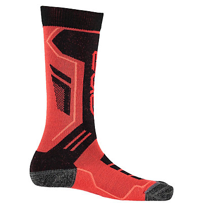 Spyder Sport Merino Kids Ski Socks - 3 Pack (Previous Season), Volcano-Black-Bryte Orange, viewer