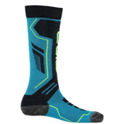 Spyder Sport Merino Kids Ski Socks - 3 Pack, Electric Blue-Black-Bryte Yellow, medium