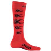 Spyder Bug Out Ski Socks - 3 Pack Kids Ski Socks, Volcano-Black, medium