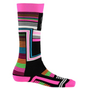 Spyder Vybe Girls Ski Socks - 3 Pack Girls Ski Socks, Black Vybe Print, medium