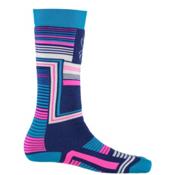 Spyder Vybe Girls Ski Socks - 3 Pack Girls Ski Socks, Evening Vybe Print, medium